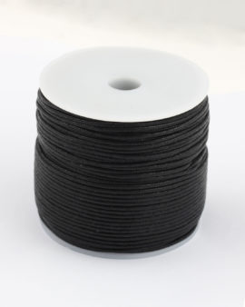 waxed cotton cord 1.5mm 100 meter roll black