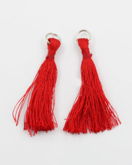 cotton tassel red 5cm