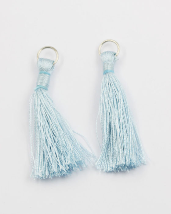 cotton tassel light blue 5cm