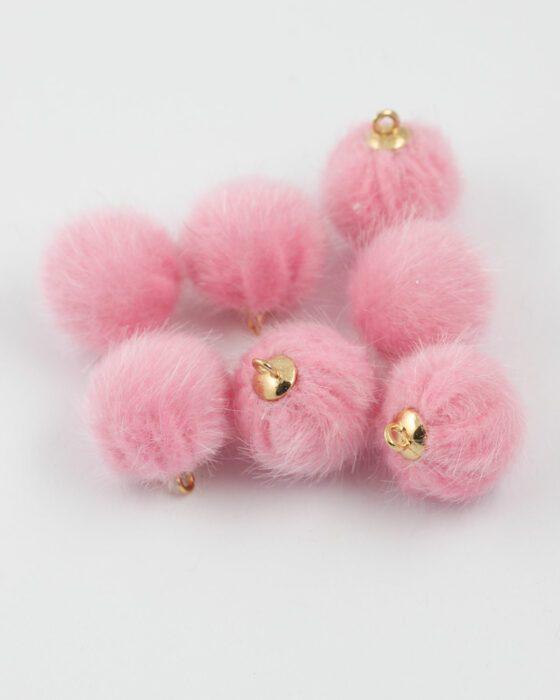 pom pom 15mm pink