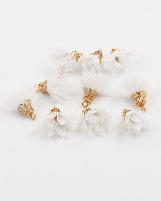 small fabric flower white