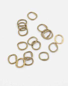 Metal ring 12 x 14mm antique brass