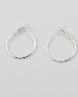 earwire hoops 20mm silver