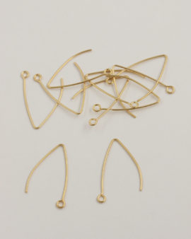 Kidney earwire 30mm gold