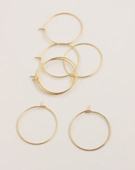Hooped earwires 25mm gold liquid plated