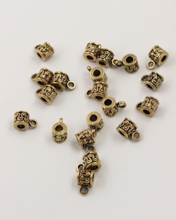 bail charm holder 8x12mm antique gold