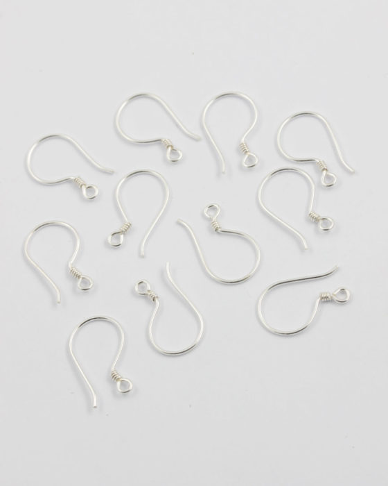 sterling silver french earwires 22 gauge
