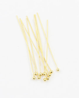 Sterling silver gold plated head pin35mm