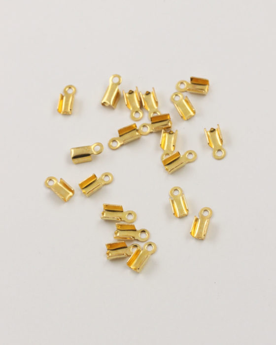 cord ends 9x4mm gold
