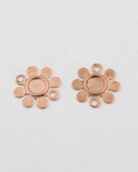 Flower setting, 10mm. Sold per pack of 20