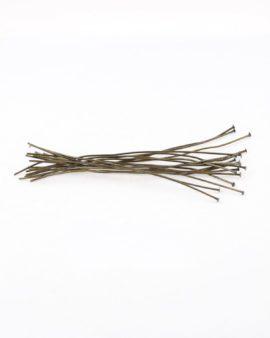 Headpins flat head antique brass