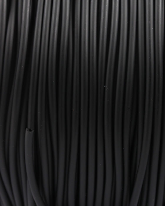 pvc rubber cord hollow 3mm black