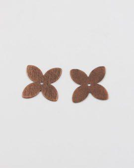 metal flower shape antique copper