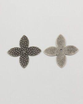 star shape 34mm antique silver