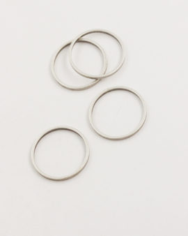 metal round shape 20mm antique silver