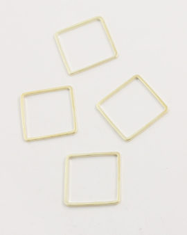 metal square shape 20x20mm champagne