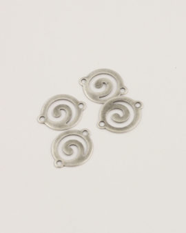 tribal spacer 12.6mm antique silver