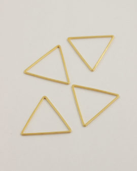 Triangle shape 30mm gold