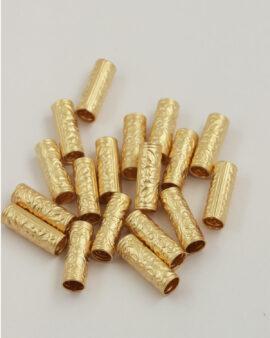 Filigree tube 6x20mm Matte Gold