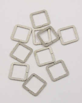 square ring 20mm antique silver