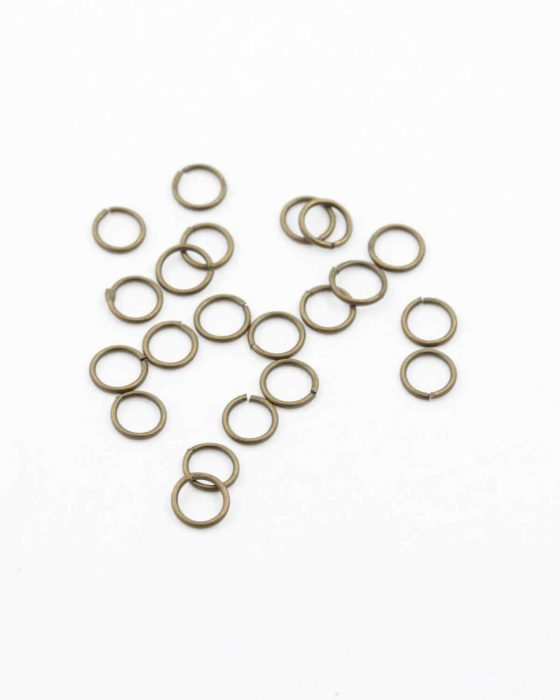 jump ring 6mm antique brass