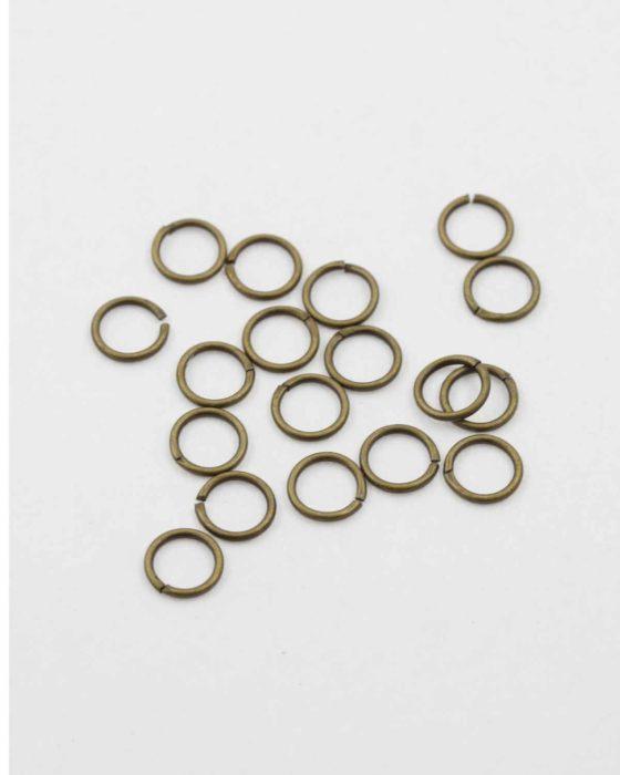 jump ring 8mm antique brass