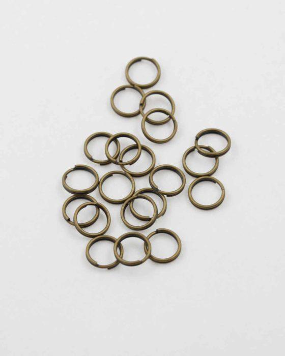 Split ring 8mm antique brass