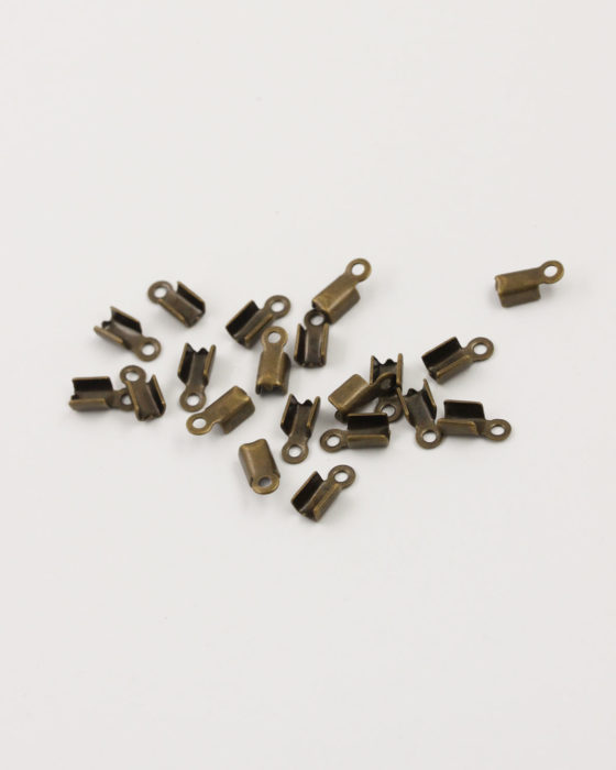 cord ends 9x4mm antique brass