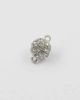 Magnetic clasp with crystal rhinestones 10mm