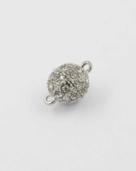 Magnetic clasp with crystal rhinestones 12mm