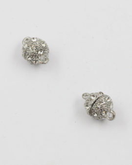 magnetic catch with crystal rhinestones 8mm