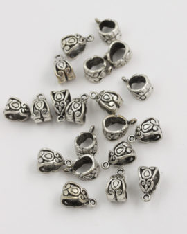 bail drop design 7x8mm antique silver