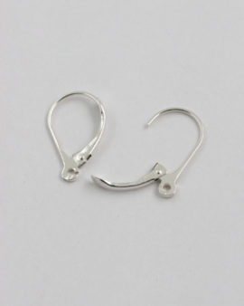 Sterling Silver Lever Back Earwire 10x18mm