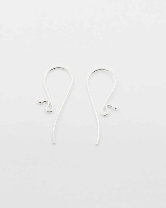 Sterling silver curved earwire
