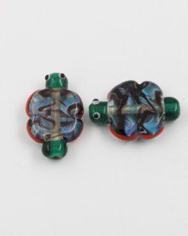handmade butterfly glass bead
