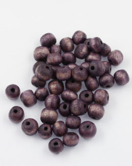 wood round bead 8mm purple
