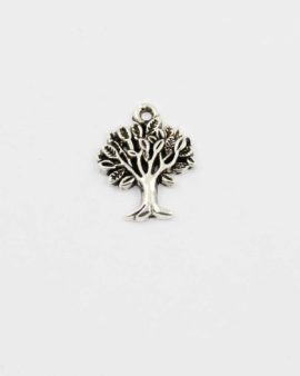 Tree charm antique silver