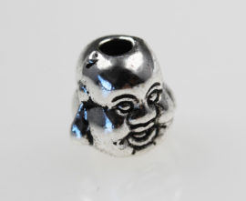 10 mm Metal Buddha head beads - Sold per pack of 20 beads