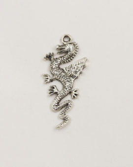 dragon pendant 45x19mm antique silver