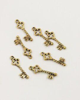 gothique key charm antique gold
