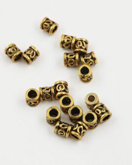 koru spacer 8x8mm antique gold