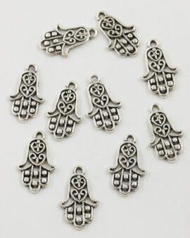 Fatima hand charm antique silver