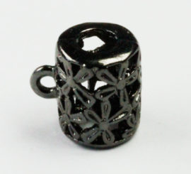 Cylinder filigree bail - Sold per packs of 10 (1=10 pieces )