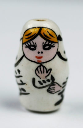 Porcelain Russian Dolls Beads