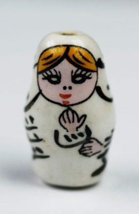 Porcelain Russian Dolls Beads