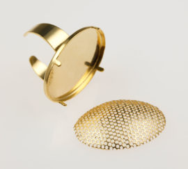 Oval ring & mesh - Adjustable size