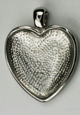 Heart flat pendant bezel