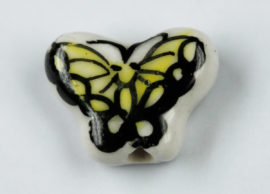 Porcelain Butterfly Beads - Sold per pack of 4 ( 1=4 pieces)