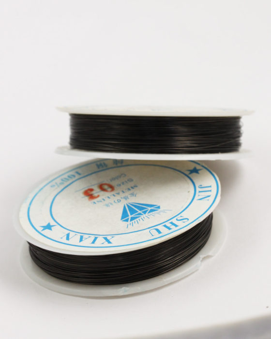 Plated Copper Wire 0.38 mm Black