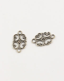 sterling silver filigree connector 11x17mm
